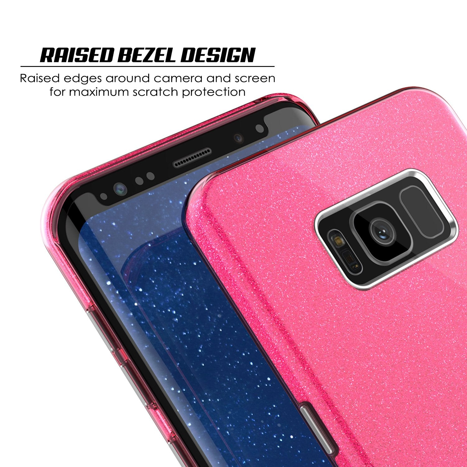 Galaxy S8 Case, Punkcase Galactic 2.0 Series Ultra Slim Protective Armor TPU Cover w/ PunkShield Screen Protector [Pink]