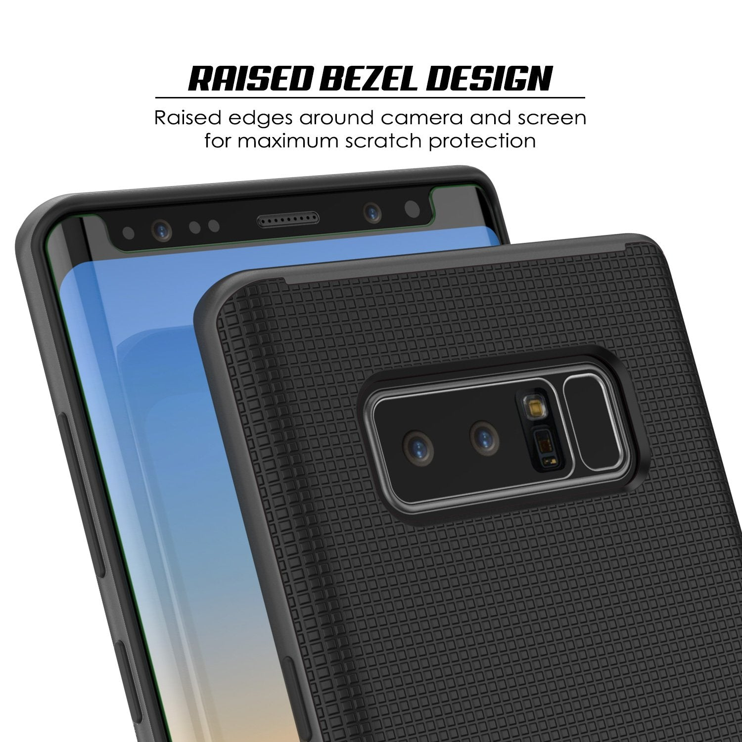 Galaxy Note 8 Case, PunkCase Stealth Grey Series Hybrid 3-Piece Shockproof Dual Layer Cover