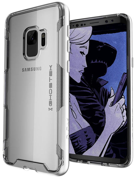 Galaxy S9 Clear Protective Case | Cloak 3 Series [Silver]