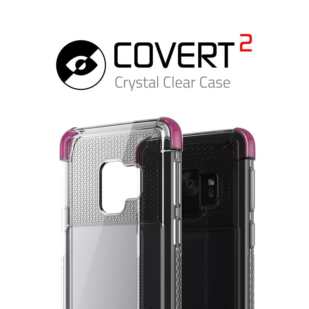 Galaxy S9 Clear Protective Case | Covert 2 Series [Pink]
