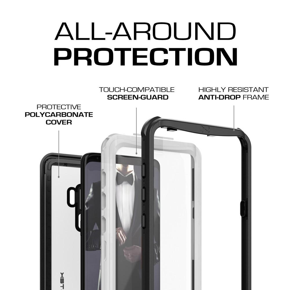 Galaxy S9+ Plus Rugged Waterproof Case | Nautical Series | [White]
