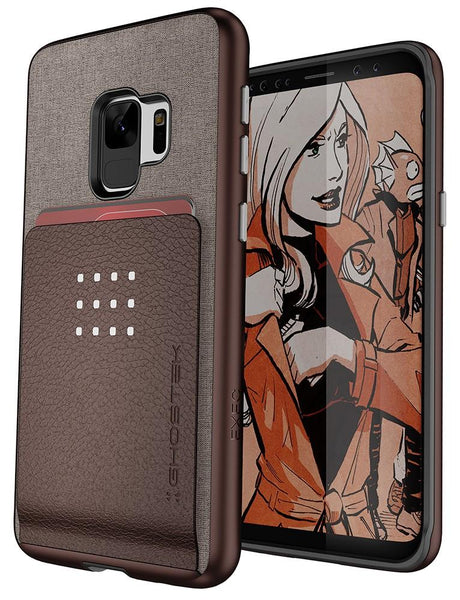 Galaxy S9 Protective Wallet Case | Exec 2 Series [Brown]