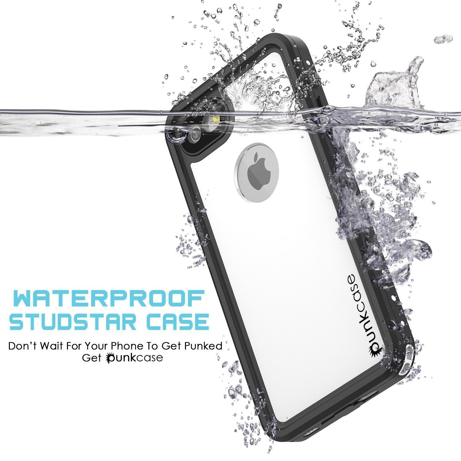 iPhone 8 Waterproof IP68 Case, Punkcase [White] [StudStar Series] [Slim Fit] [IP68 Certified]] [Dirtproof] [Snowproof]