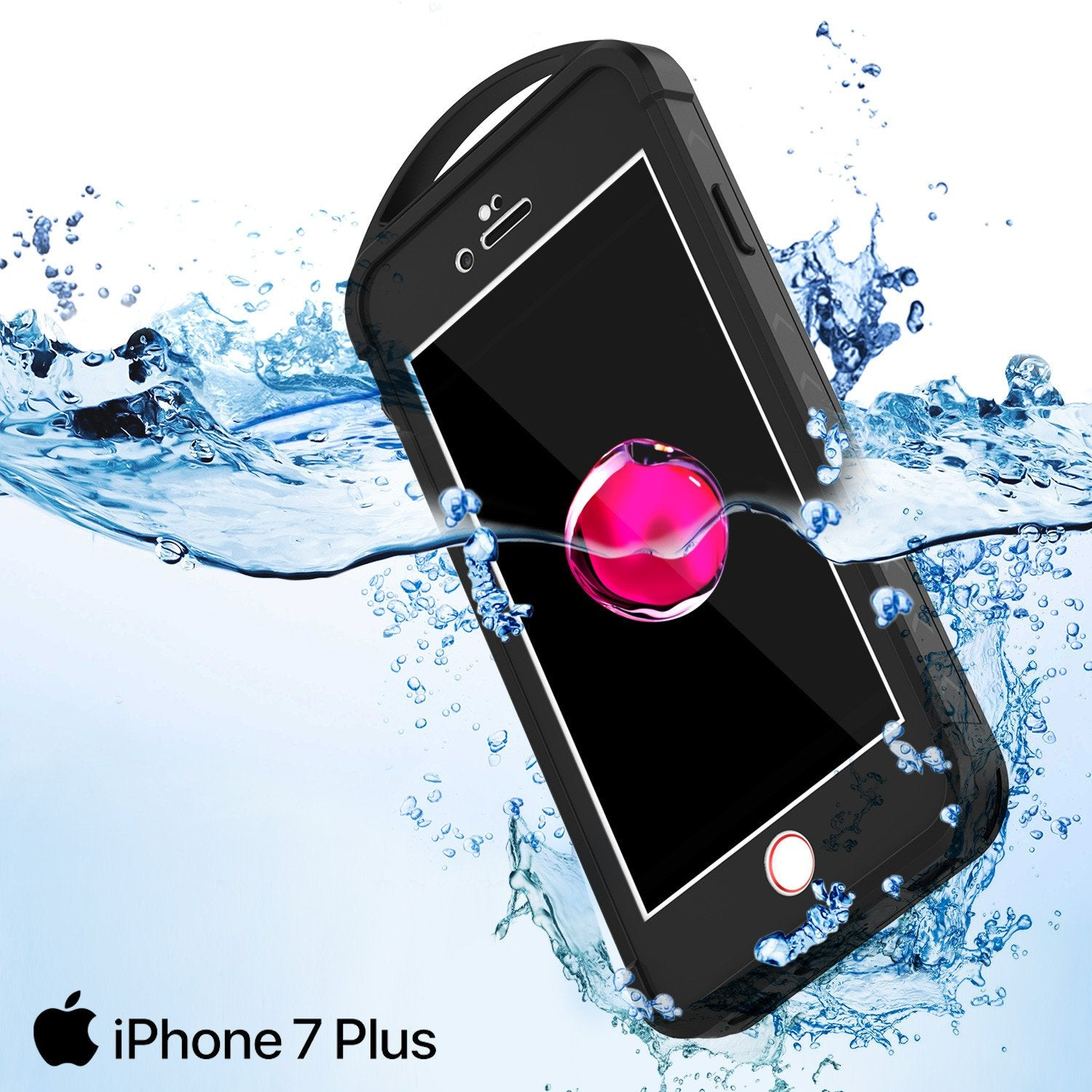 iPhone 7+ Plus Waterproof Case, Punkcase ALPINE Series, Black | Heavy Duty Armor Cover