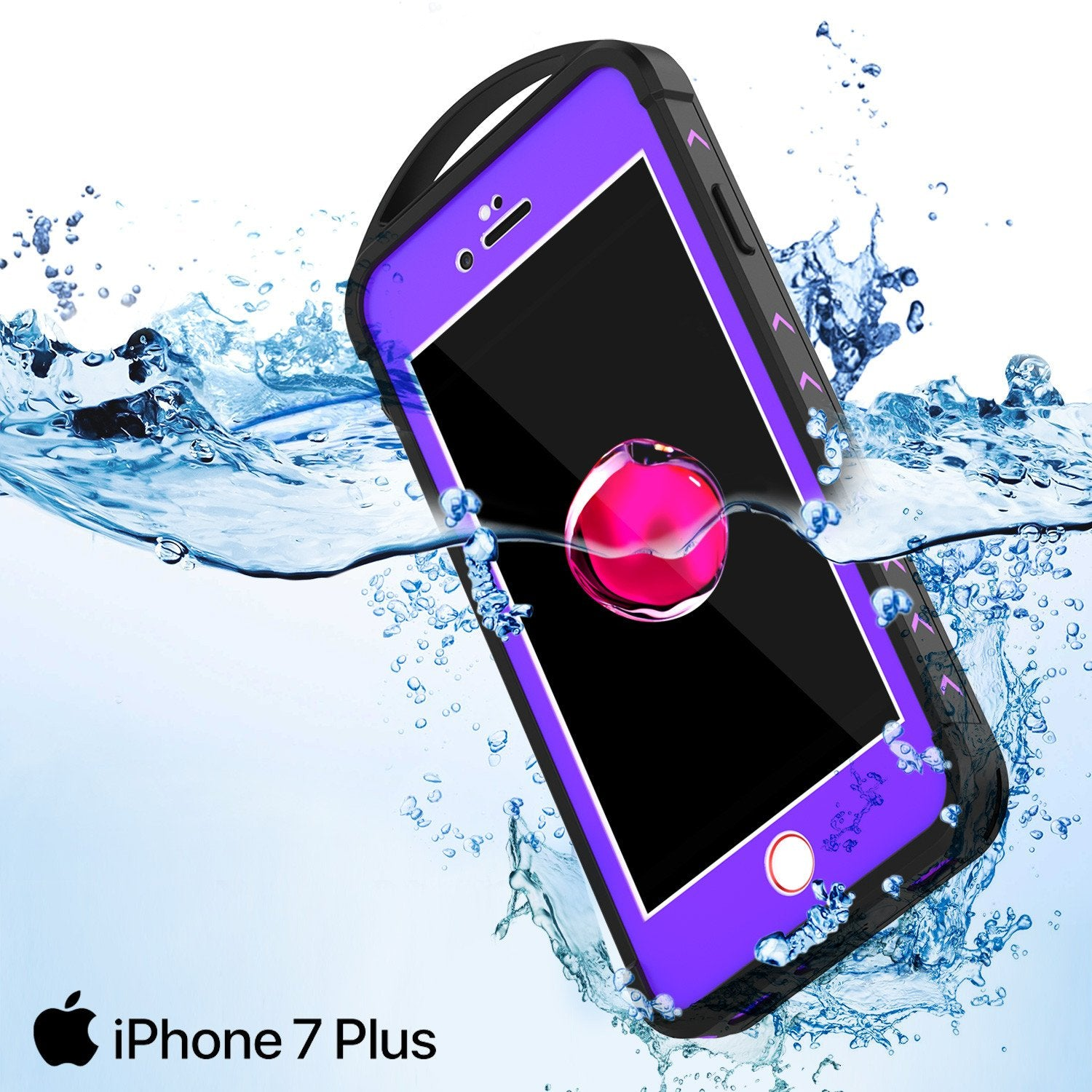 iPhone 7+ Plus Waterproof Case, Punkcase ALPINE Series, Purple | Heavy Duty Armor Cover