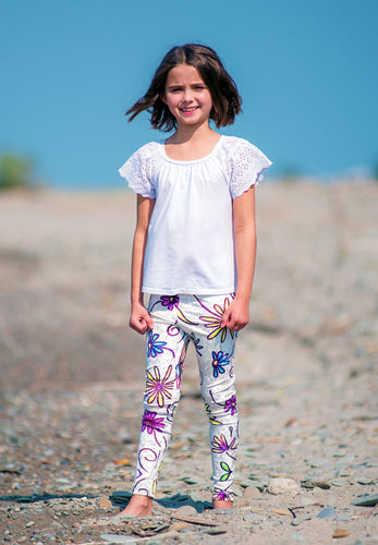 Little Miss Floral  Leggings