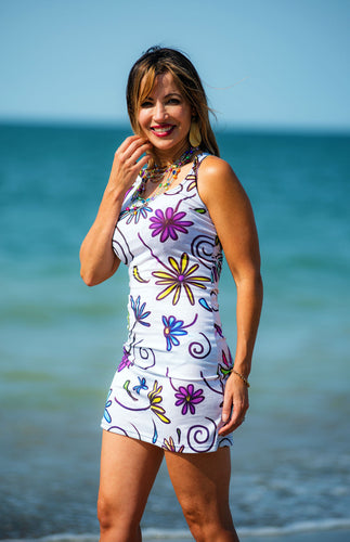 Casual Floral Beach Dress