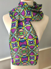 Silk Purple and Gold Dynamic Scarf