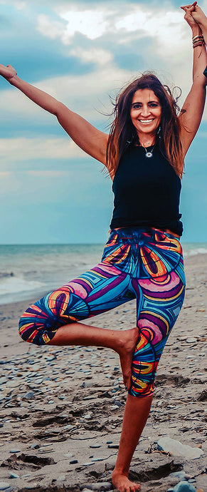 Orange and Blue Mandala Leggings