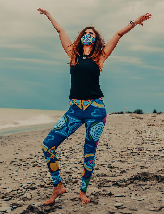 Blue Swirl Leggings