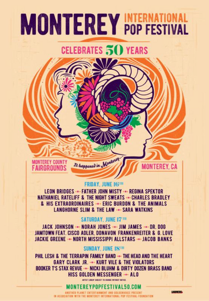 Monterey Pop Festival Single Day Lineup Announced