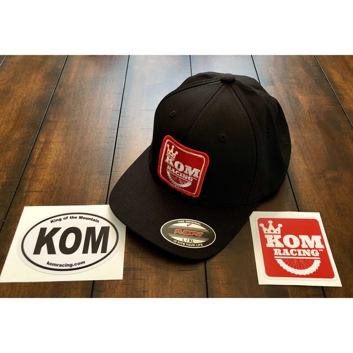 KOM RACING Logo flex-fit hat