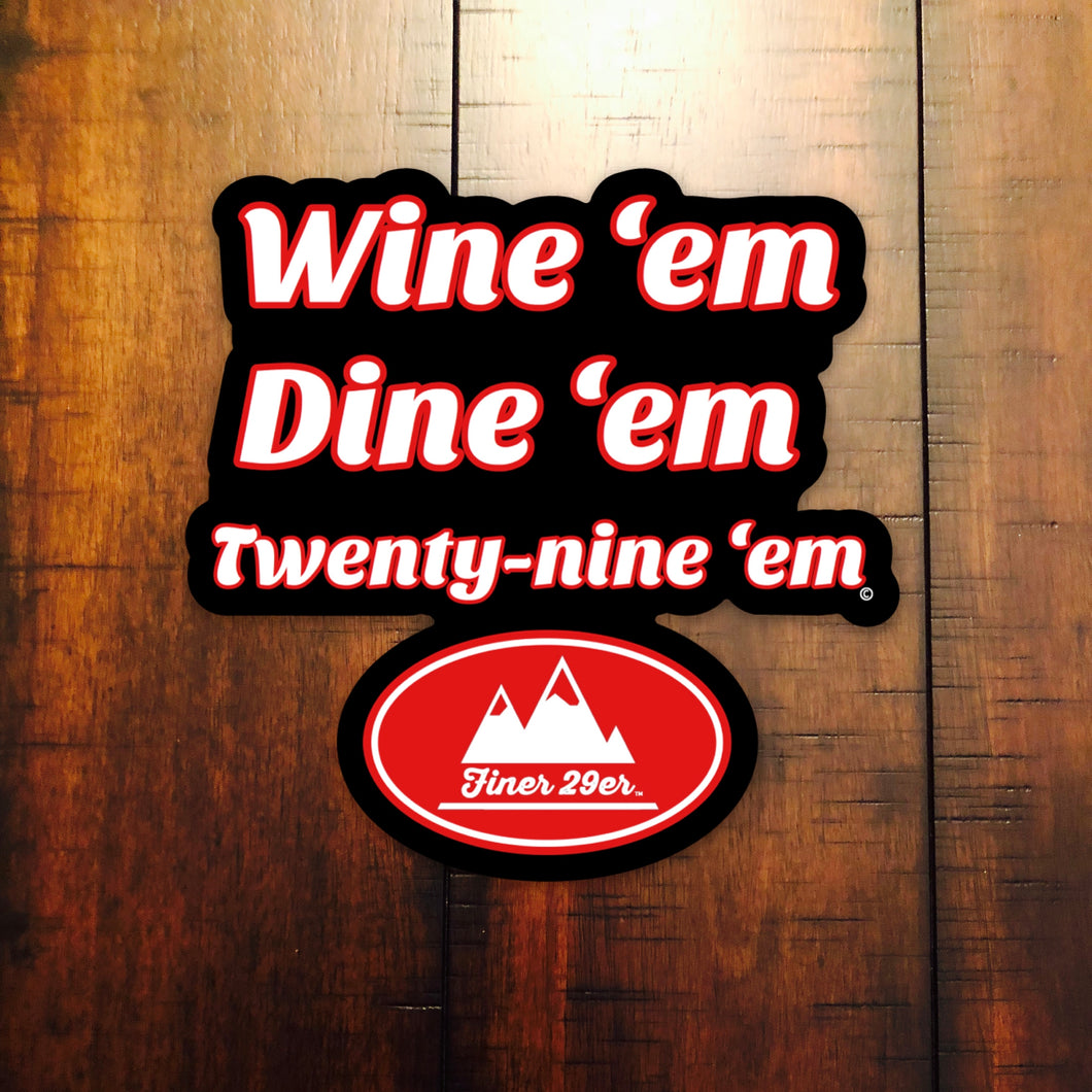 Finer 29er Die-cut Decal