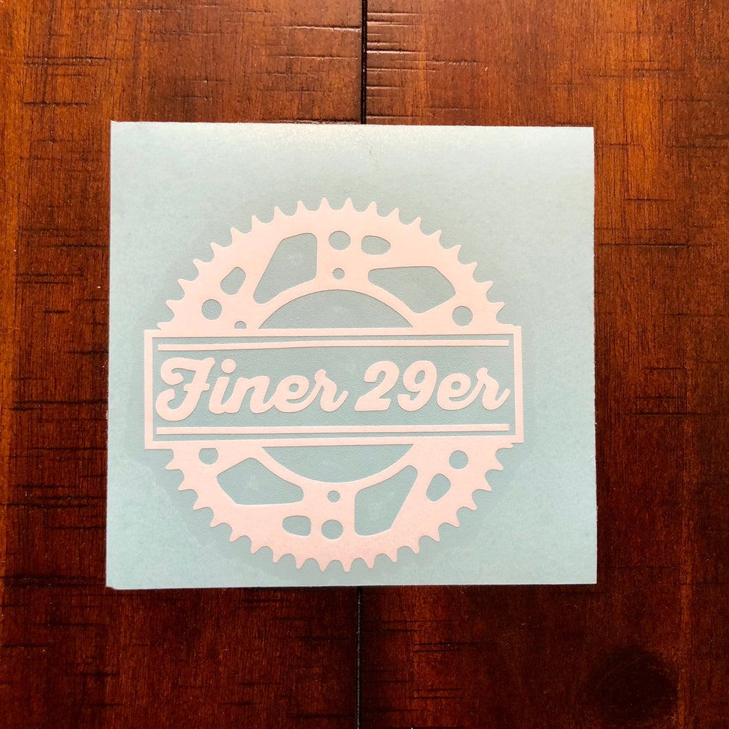 Finer 29er Sprocket Decal