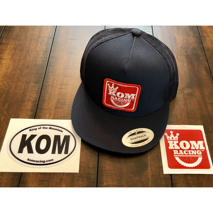 KOM RACING Logo Trucker hat