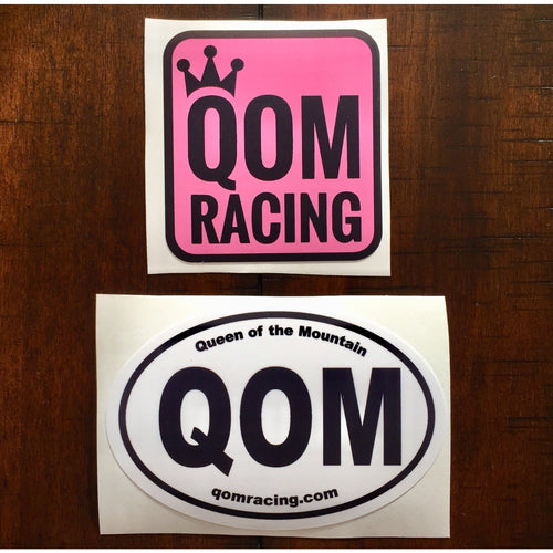 QOM Racing decals - get one of each!