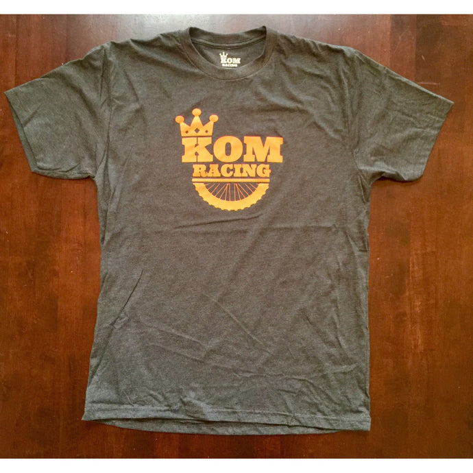 KOM RACING Logo Charcoal