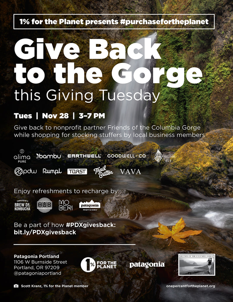 GivingTuesday Patagonia 1%forthePlanet