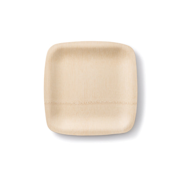 Bamboo Compostable Plates (Square)
