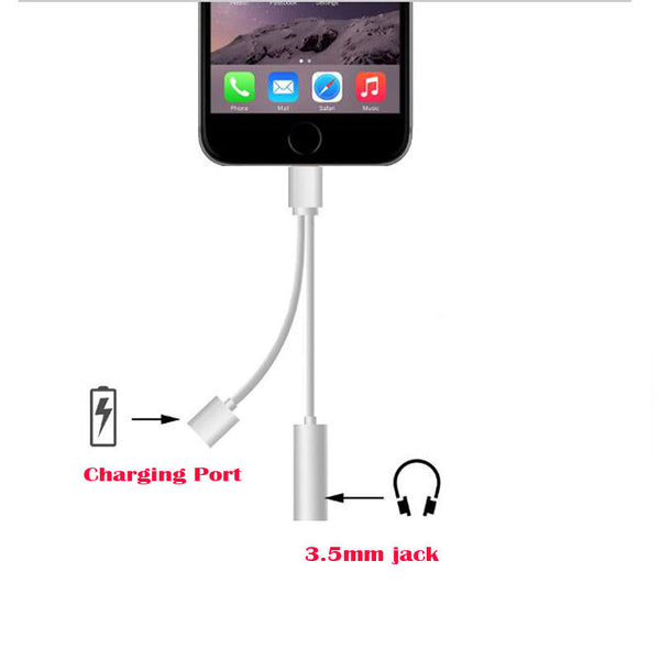 Lightning cable and Audio Adapter for iPhone 7/7 plus