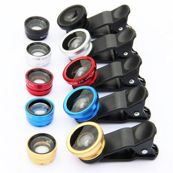 Universal 3-in-1 Phone Camera Lens Kit
