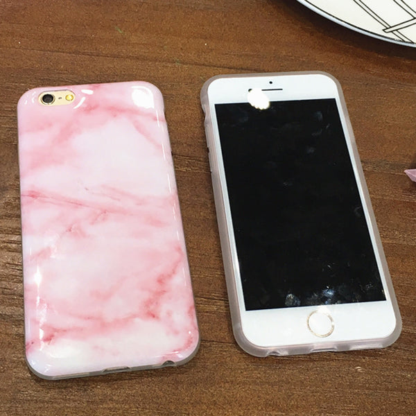 Marble Stone Image Painted Phone Case for iPhones
