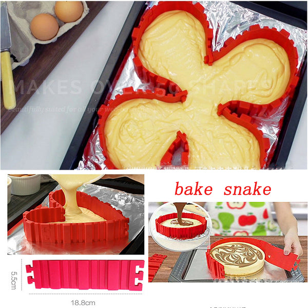 Magic Bake Snake Silicone Cake Mold