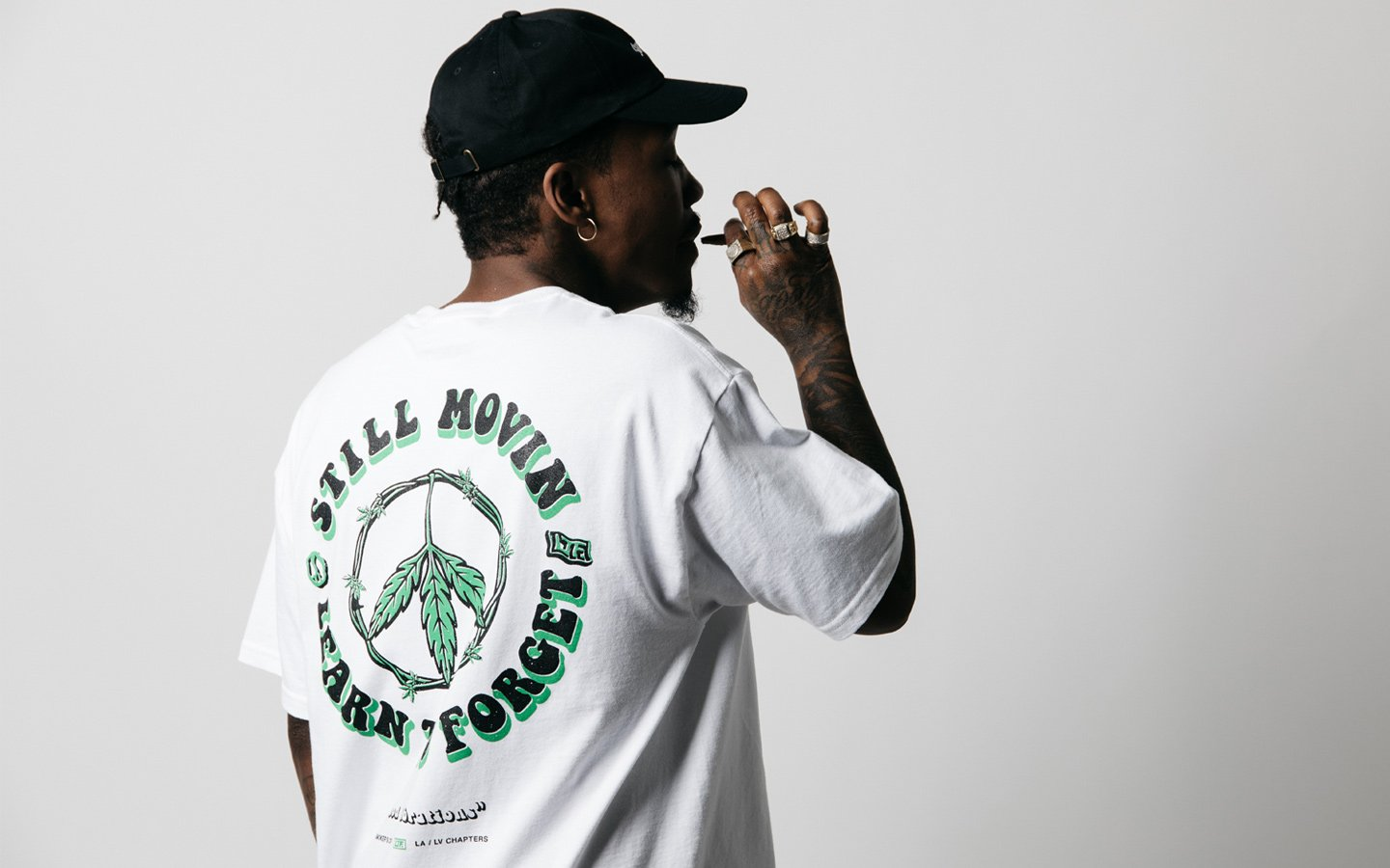 ltf learn to forget collab t-shirt with las vegas streetwear shop still movin on thedrop