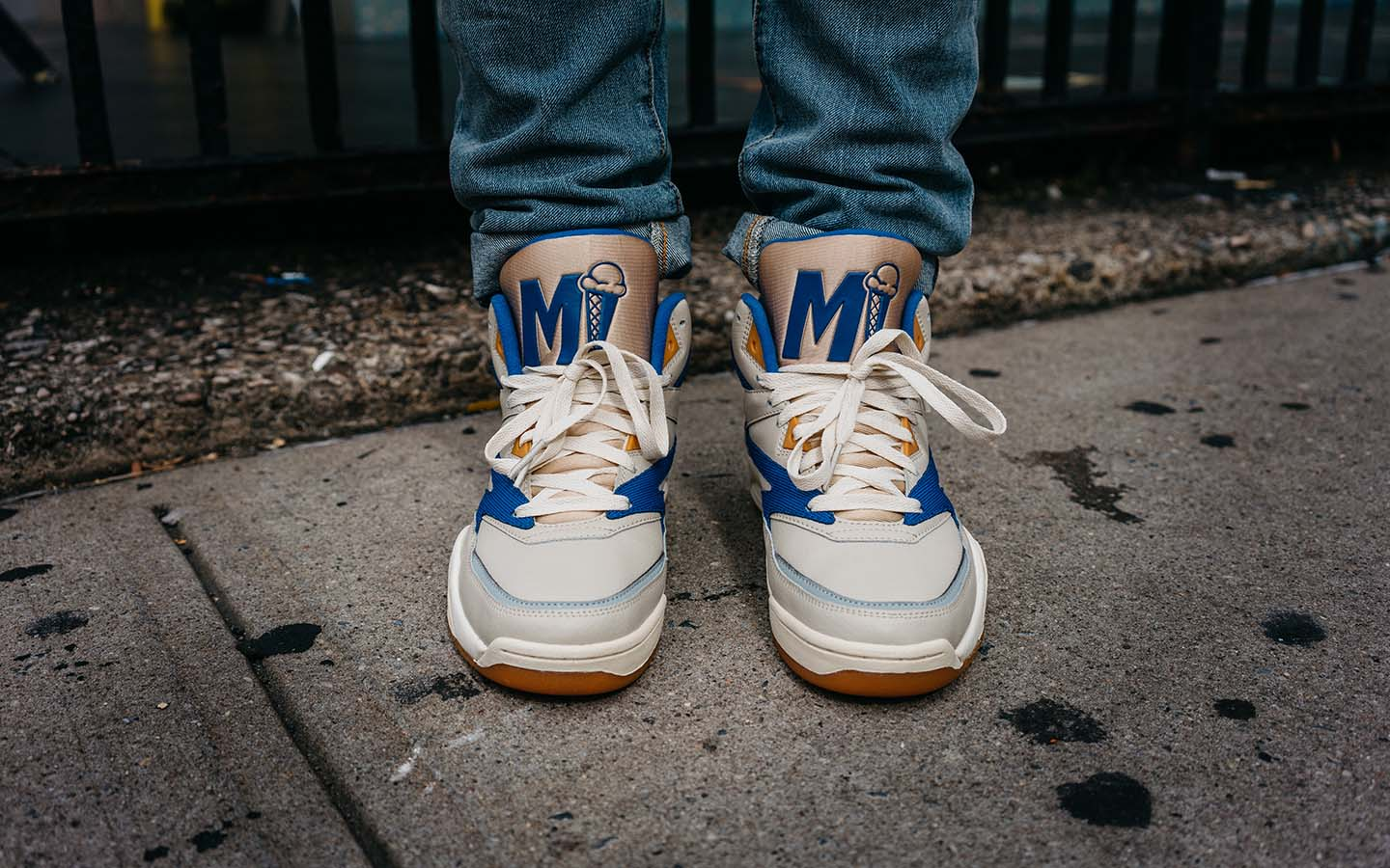 mikey likes it sneaker collab ewing retro hi-top sneaker drop limited edition on thedrop