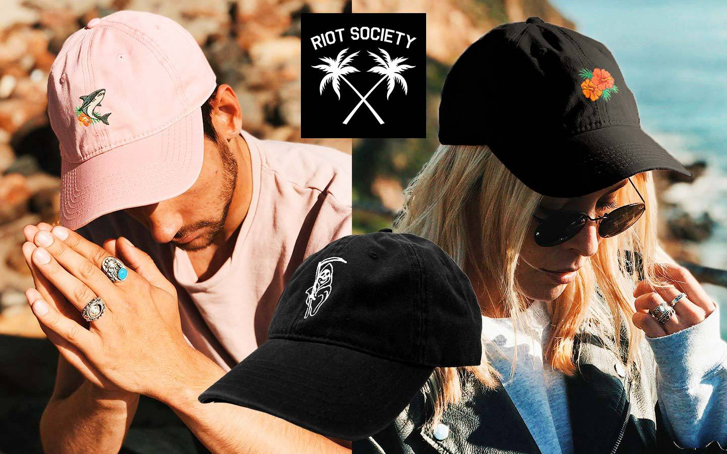riot society california streetwear brand dad hats for guys and women on thedrop