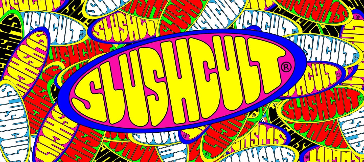 slushcult brand exclusive neon tees hoodies and hats and collabs on The Drop