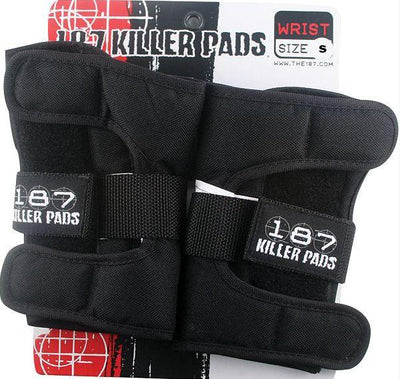 187 187 wrist guard black kinetic skateboarding TheDrop