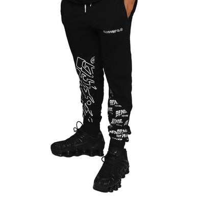 8 9 Clothing Co. demon killer mens sweats black pants and joggers TheDrop