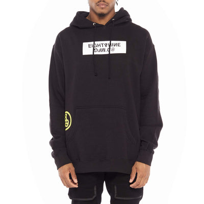 8 9 Clothing Co. trench glitch pullover hoodie black jackets and outerwear TheDrop