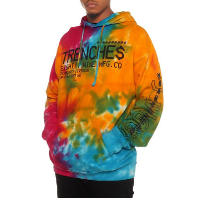8 9 Clothing Co. trench glitch pullover hoodie tie dye jackets and outerwear TheDrop