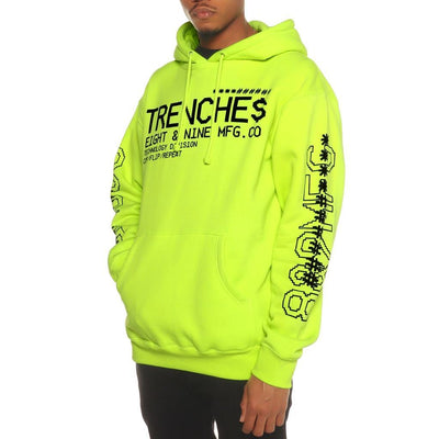 8 9 Clothing Co. trench glitch pullover hoodie volt jackets and outerwear TheDrop
