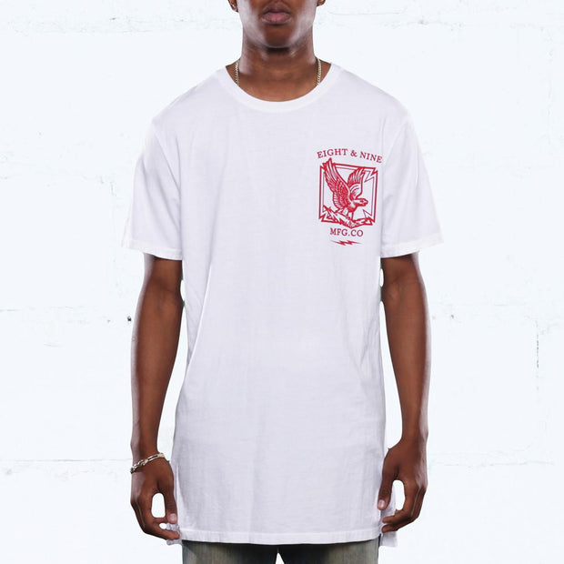 8 9 MFG Co. clockin elongated mineral wash t shirt white tees TheDrop