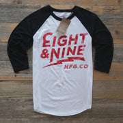8 9 MFG Co. cruise 3 4 raglan tee fire red dye tees TheDrop
