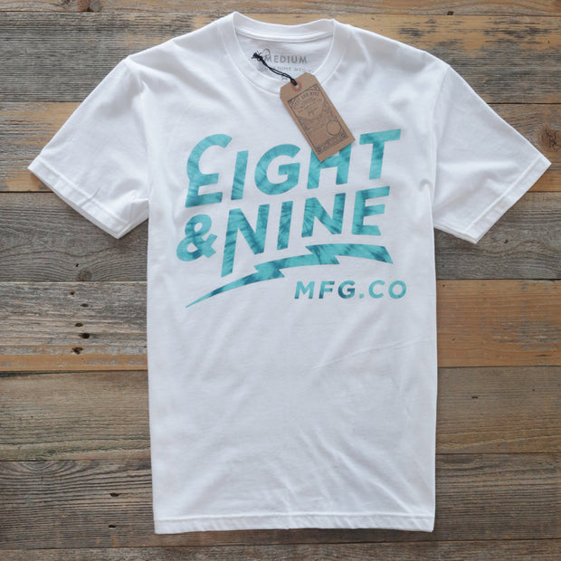 8 9 MFG Co. cruise tie dye fill tee white s s tees TheDrop