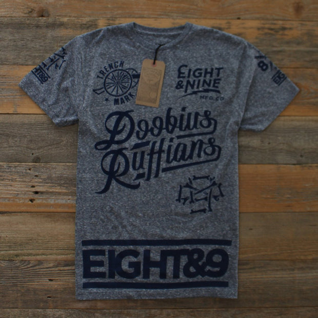 8 9 MFG Co. doobious ruffians jersey tee navy snow tees TheDrop