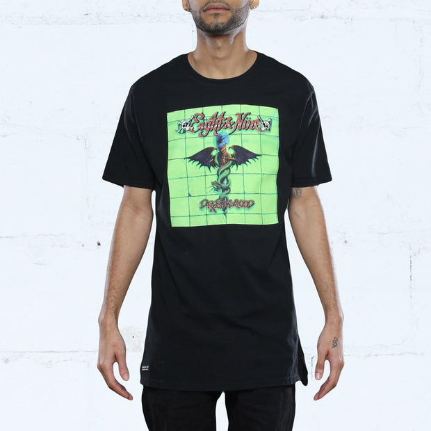 8 9 MFG Co. dr feelgood elongated spray wash t shirt black tees TheDrop