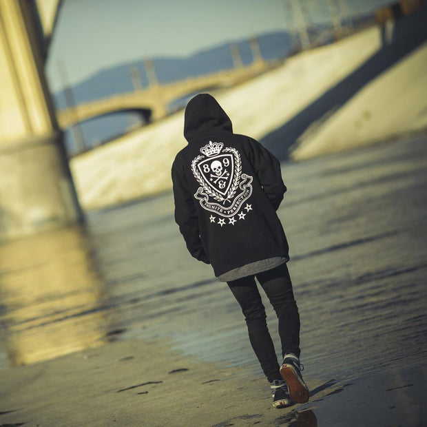 8 9 MFG Co. infinite ruffians rugby zip up hoodie black jackets and outerwear TheDrop