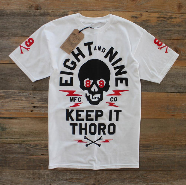 8 9 MFG Co. keep it thoro t shirt fire red tees TheDrop