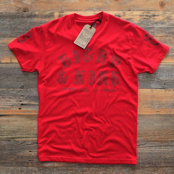 8 9 MFG Co. low brow tee red tonal tees TheDrop