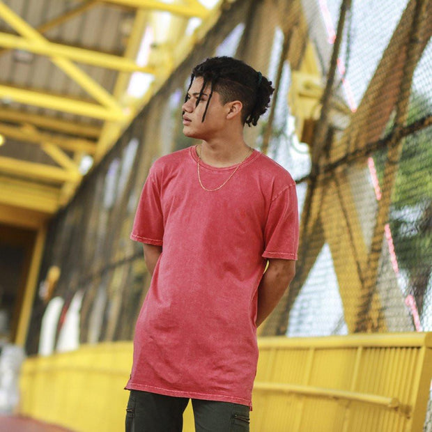 8 9 MFG Co. mini keys gym red elongated mineral wash t shirt tees TheDrop
