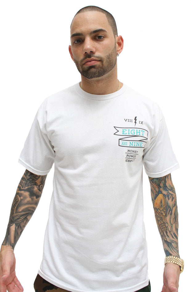 8 9 MFG Co. money power respect white t shirt tees TheDrop