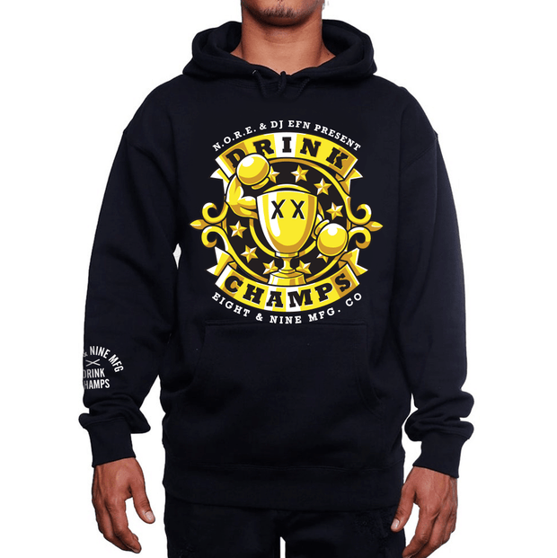 8 9 MFG Co. og drink champs black hooded sweatshirt jackets and outerwear TheDrop