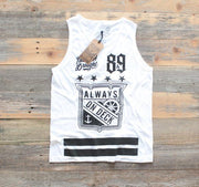 8 9 MFG Co. on deck jersey tank top white tank tops TheDrop