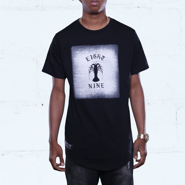 8 9 MFG Co. spiny curved hem t shirt black tees TheDrop