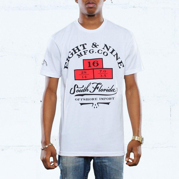 8 9 MFG Co. weights import t shirt white tees TheDrop